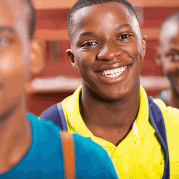 3 African Teen Boys
